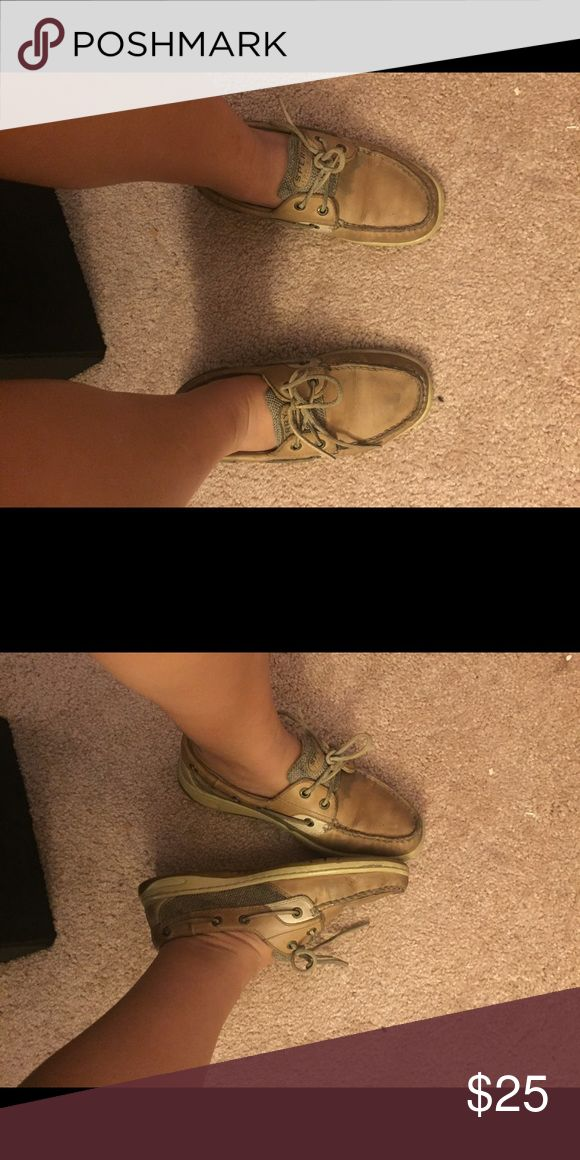 Sperry Boat Shoe size 7.5 Used but still in pretty good condition. Some stains but price is cheap! Sperry Top-Sider Shoes Sneakers