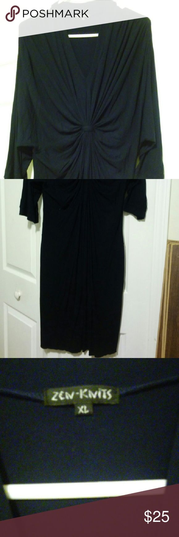 Navy Blue dress Navy blue rayon dress that gathers under the breast to accent your waistline Dresses Asymmetrical