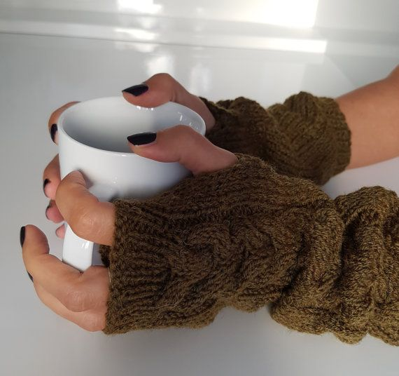 Gloves women gloves wool gloves wool arm  by TogetherDifferent