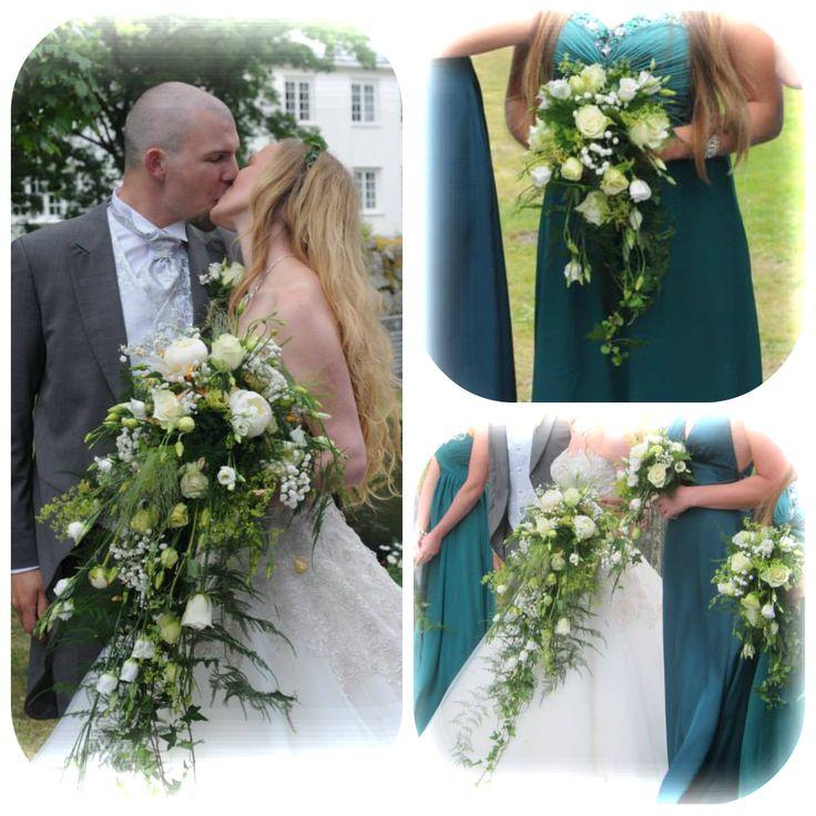 Brudebukett og brudepikebukett