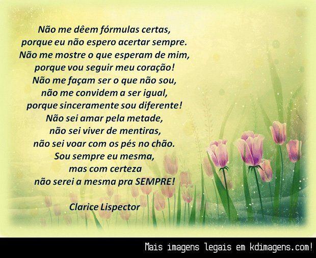 Frases De Clarice Lispector: Frases... Orações... De Fé, Esperança