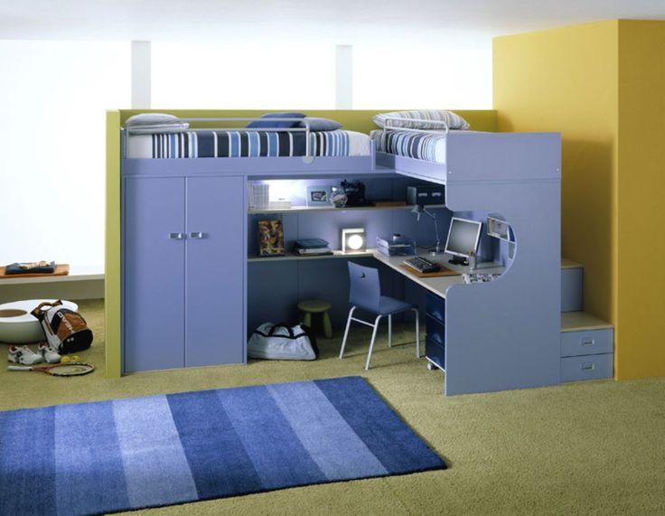 kids bunk beds with desk google keress etagenbett - Einfache Hausgemachte Etagenbetten