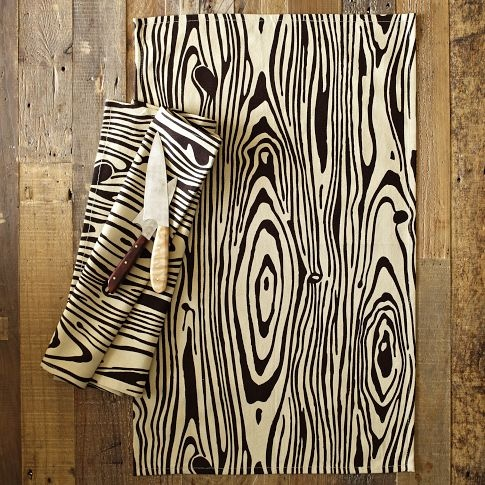 Wood Grain Tea Towel