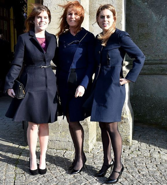 Sarah Ferguson Duchess Of York And Her Daughters Princess