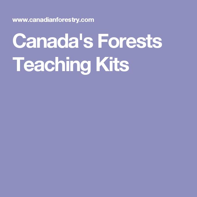 Canada's Forests Teaching Kits