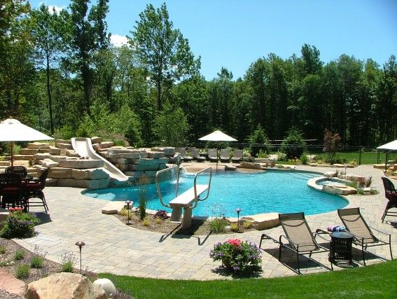 Backyard Pools With Slides 72 best backyard images on pinterest | backyard ideas, pool ideas
