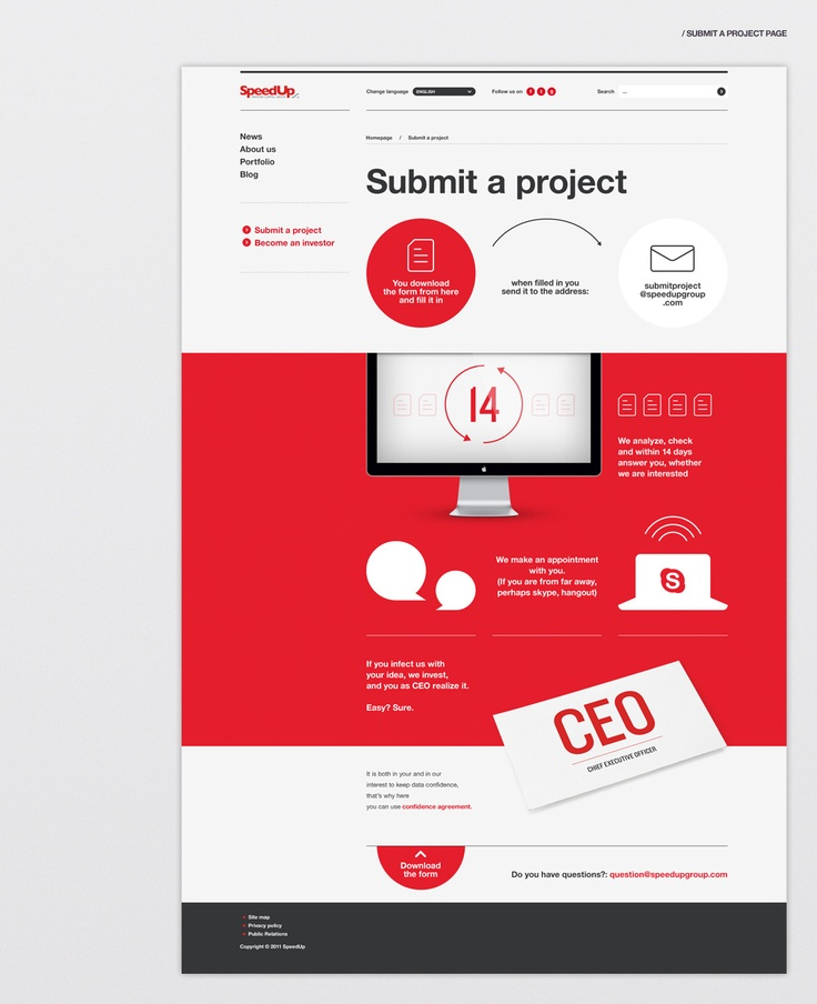 SpeedUp Capital Group  Designed by Maciej Mach