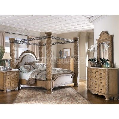 California King Size Platform Bed with canopy | King Canopy Bedroom Sets on Canopy Bedroom Set Millennium B547 Canopy ...