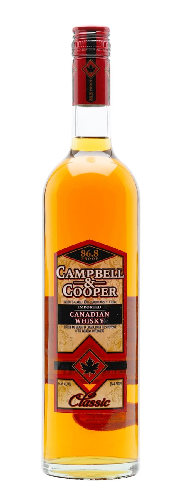 Campbell & Cooper Classic Canadian Whisky - Blended Canadian Whisky -  Campbell & Cooper Classic is a Canadian whisky from Frank Lin distillers of California. This is very hard to find outside of the US, so we're delighted to have been able to source some.