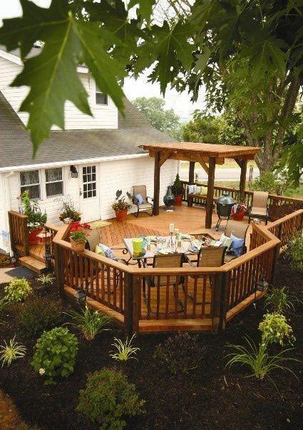 Backyard+Deck+Ideas | Outdoor Decks And Deck Designs | Deck Building Types,  Designs And ... #buildadeck