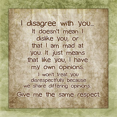 When did being disrespectful and spewing hatred trash talk become OK when it comes to politics ? When did Facebook become everyones' own public political soapbox ? Yes, we do have freedom of speech in this country. But I don't have to read your negative hatred. It only makes the person saying horrible things look bad. Think about it.