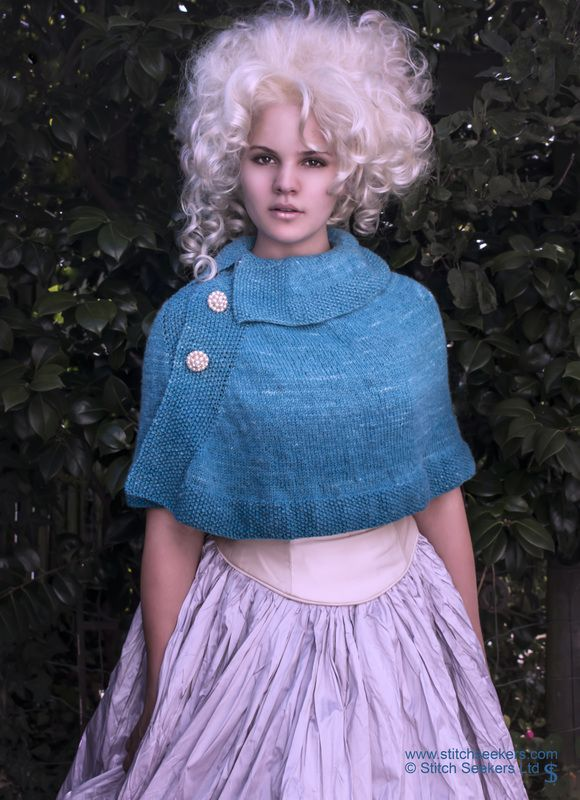 Renoir - a knitted cape in subtle gradient yarn.  www.stitchseekers.com #editionone