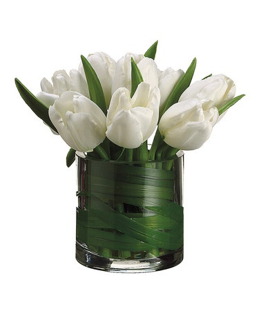 Take a look at this White Tulip Vase Arrangement by Allstate Floral & Craft on #zulily today!