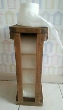 Rustic freestanding Wooden Toilet roll holder dispenser stand - hand made no res
