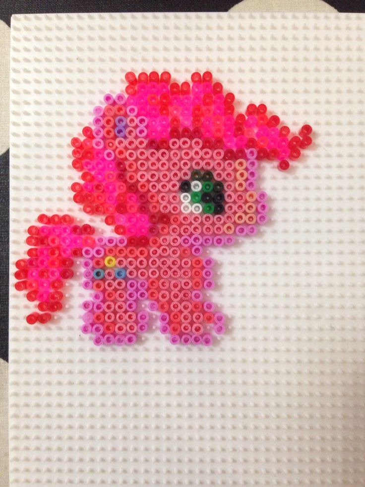 Hama bead mini: pinky pie Pyssla my little pony
