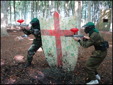 I really want to go paintballing as I have never been, but I think two things are going to work against me, I bruise like the proverbial peach, and scream involuntarily when surprised. I may as well just walk around in a luminous suit with a big target painted on my back!