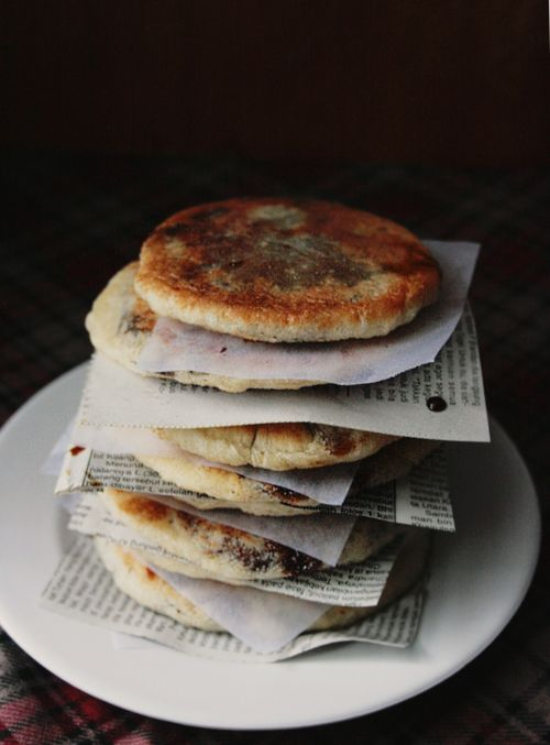 Korean Sugar Pancakes (filled with brown sugar syrup and walnuts--like the ones sold on seoul street carts)