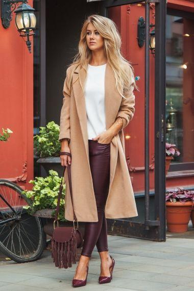 Пальто-халат с поясом, светло-коричневого цвета Fashion Confession