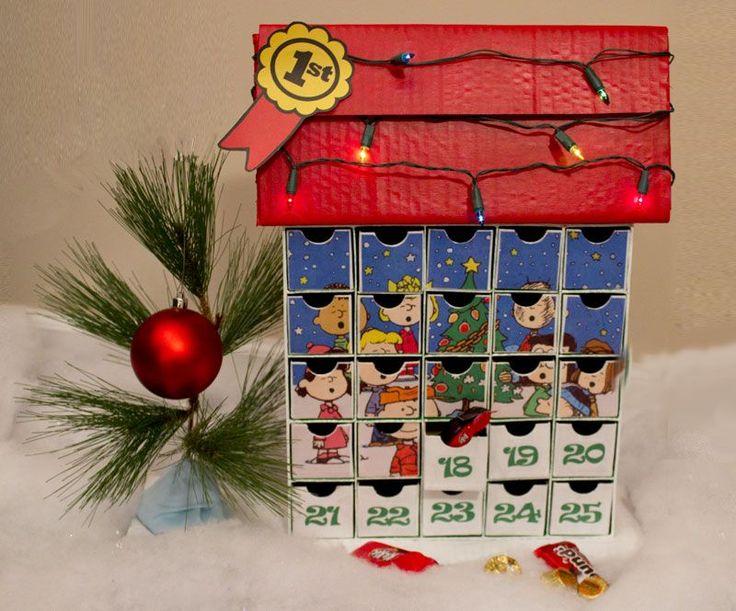 Snoopy Charlie Brown Christmas Peanuts Advent calendar. #decoartprojects