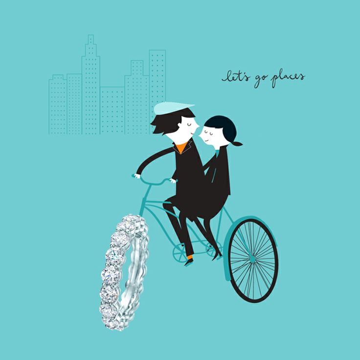 Let's go places. Tiffany shared-setting diamond band ring. #TiffanyPinterest