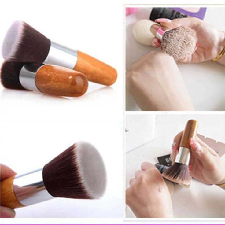 Professionele Makeup Brush Flat Top Borstel Foundation Poeder borstel Cosmetische Make up brushesTool Houten Kabuki Make-up Borstel