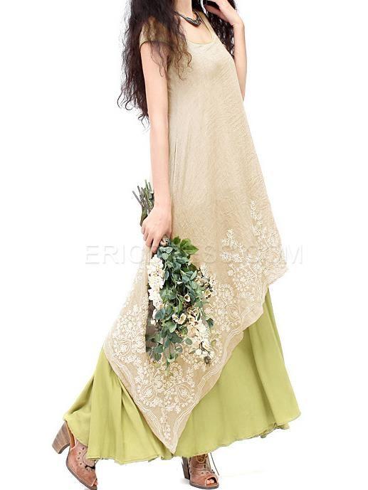 Ericdress Summer Princess Cotton Maxi Dress  Maximum Style
