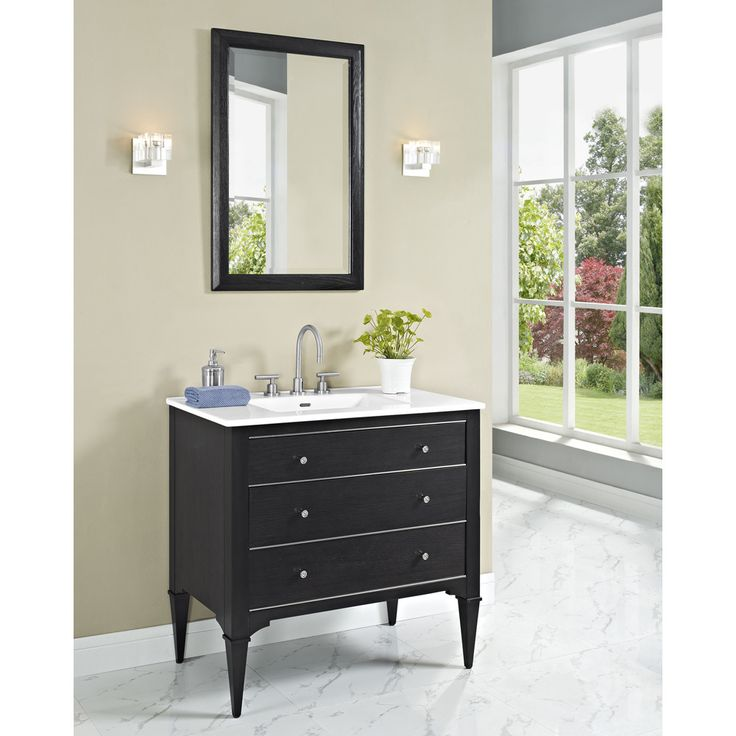 "Fairmont Designs Charlottesville 36"" Vanity for Integrated Sinktop - Vintage Black"