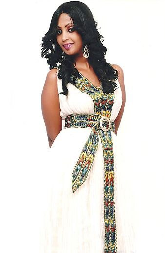 This is modern twist to a tradional dress that is worn in Ethiopia