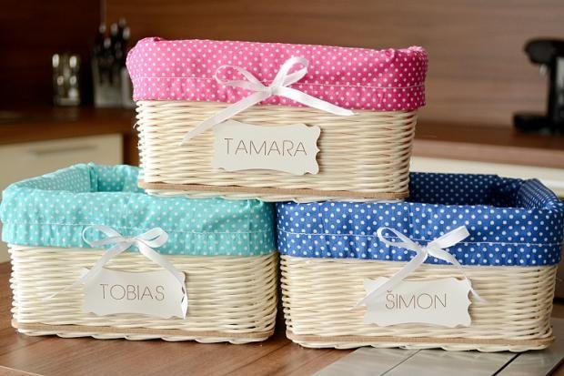 Pedigové košíky do detskej izby. Každé dieťa bude mať vlastný:) Autorka: adriana842 / Artmama.sk