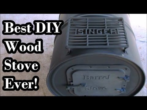 DIY $60 Wood Stove Improved... Best Stove Ever!!! - YouTube