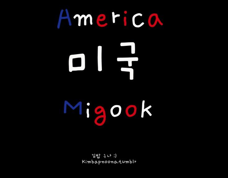 What Koreans call America - pronounced mee gook