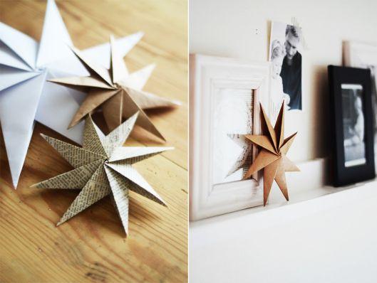 .Nordic Bliss Christmas DIY paper star Home by Linn