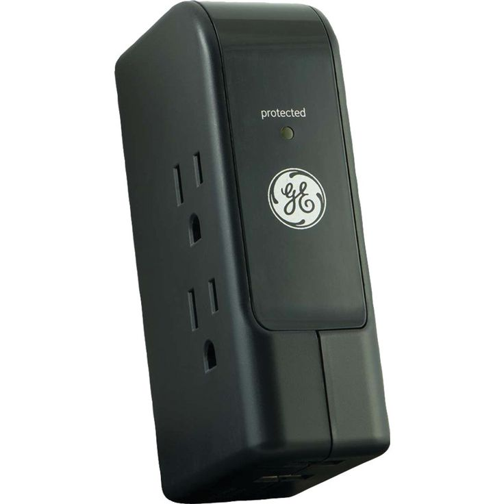 Ge 3-outlet Travel Surge Protector With 2 Usb Ports