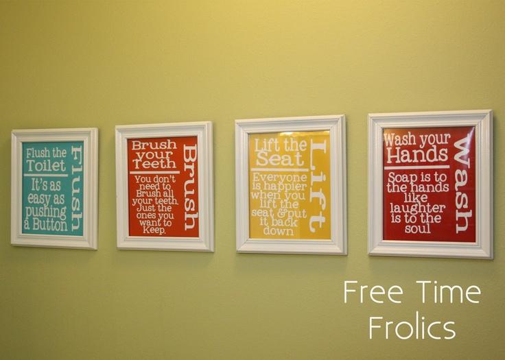 Free bathroom printables from {Free Time Frolics} http://www.freetimefrolics.com/2012/07/bathroom-art-printables.html#
