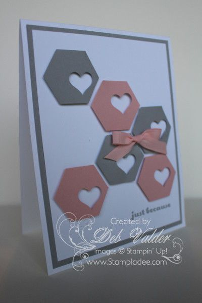 Hexagon Honeycomb Punch Art with Deb Valder by djlab - Cards and Paper Crafts at Splitcoaststampers