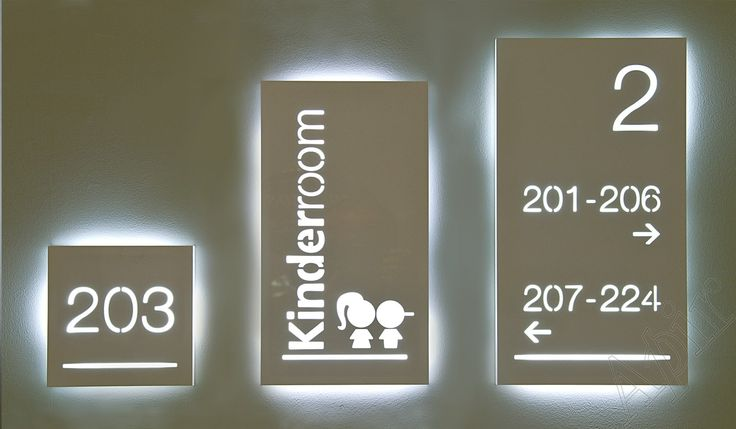 LIGHT - Range signs with cut out lettering illuminated with led technology
