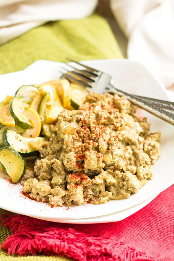 A ground turkey curry dish that is healthy, low-sugar, gluten-free and full of easy to find Indian spices.