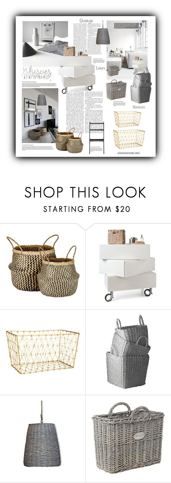 """""""Storage Idea's"""" by efashiondiva7 ❤ liked on Polyvore featuring interior, interiors, interior design, home, home decor, interior decorating, Murmur, H&M, Lazy Susan and Shabby Chic"""