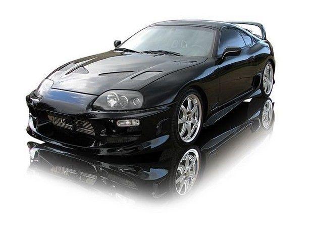 1997 Black Toyota Supra Twin Turbo Tuning
