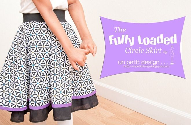 Fully Loaded Circle Skirt by Un Petit Design.  Her work is always flawless!