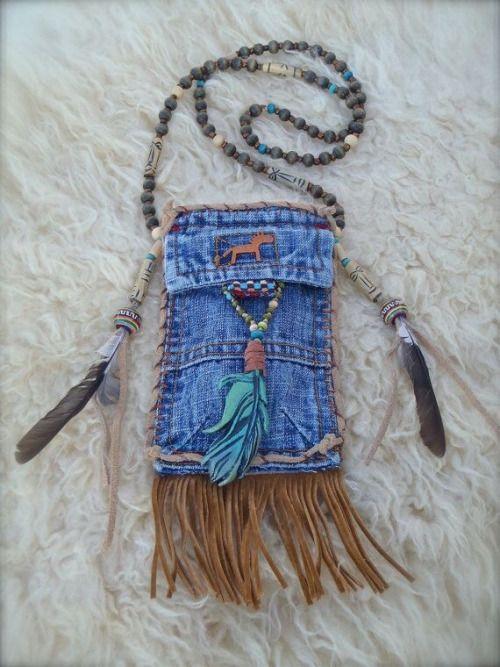 Purse, tribal, bohemian, beaded strap purse