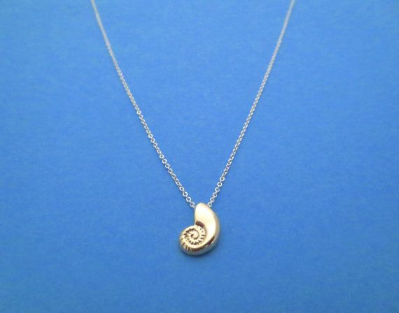 Gold Ariel Voice, Mixed Color, Sterling Silver Chain, Seashell, Necklace on Etsy, $19.00