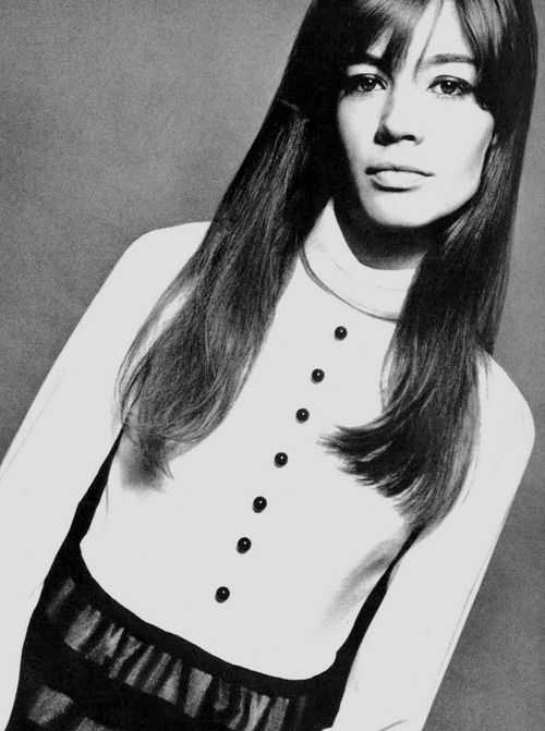 Françoise Hardy by David Bailey for Vogue UK, December 1965.