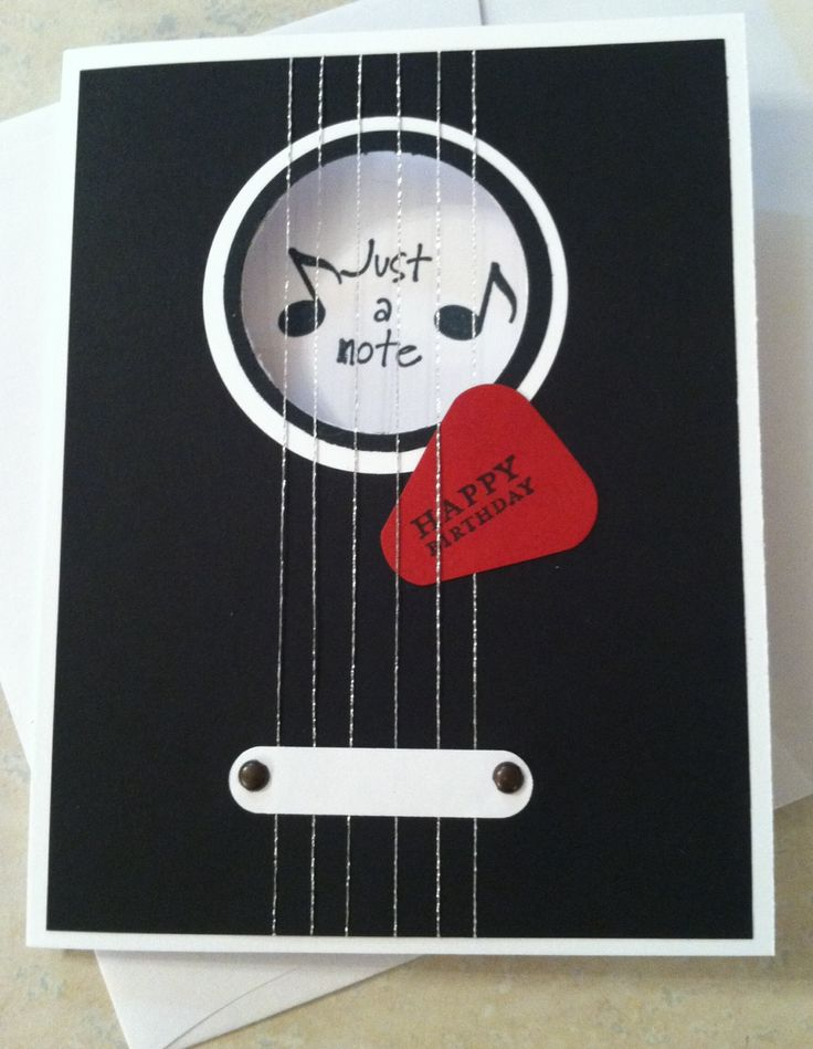 Stampin up guitar card. (Pin#1: Music...)