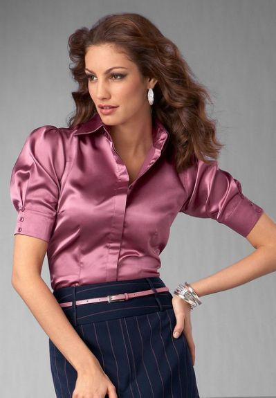1000+ images about Satin Blouse