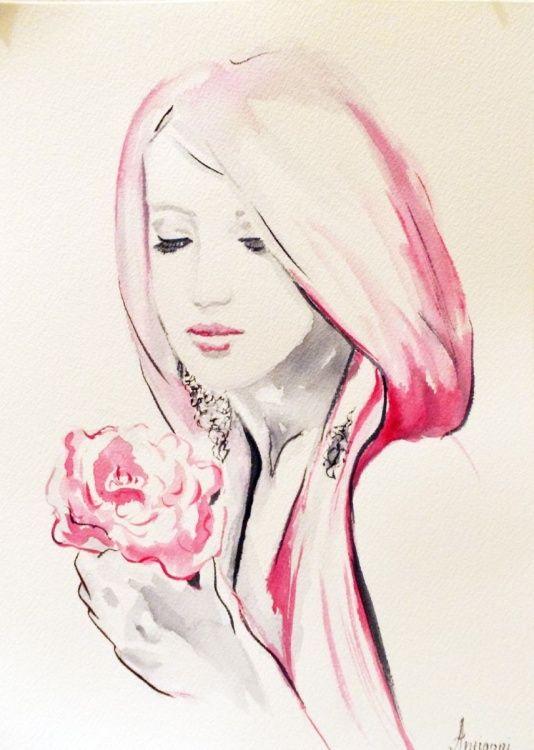 Romance (2016) Watercolor by Antigoni Tziora | Artfinder