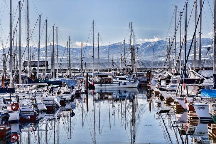 Masts at the marina, Comox, Vancouver Island, BC | by Mike Thompson, via 500px