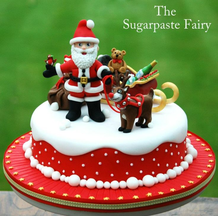 Christmas Fairy Cake Decorating Ideas : The Sugarpaste Fairy Cakes - Christmas Pinterest ...