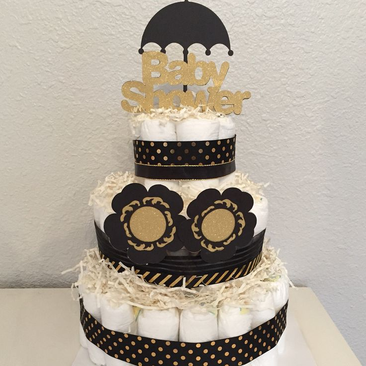 diy baby shower diaper cake black and gold baby shower gold glittery