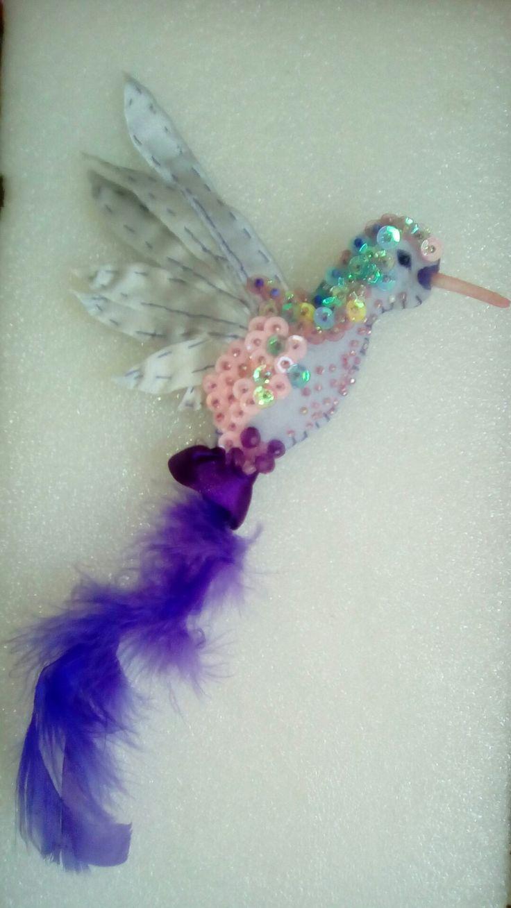 Broche prendedor pajaros colibrí